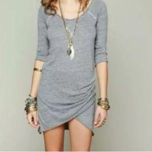 Free People Beach gray tshirt dress